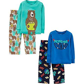 Simple Joys by Carter's Boys' Toddler 4-Piece Pyžamo Set, Monster/Bear, 4T