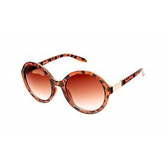 Gafas de sol señoras marrón moderno / pantera / transparente / oro