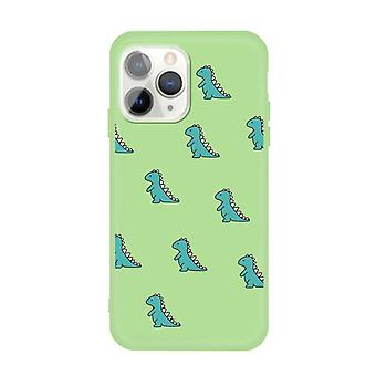 Grøn skal med mini dinosaurer-til iPhone 11 PRO MAX