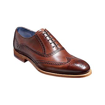 Barker Valiant - Ebony Hand Painted | Mens Handmade Leather Oxford Brogues | Barker Shoes