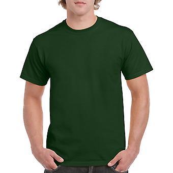 Gildan G5000 Plain Heavy Cotton T Shirt in Forest Green