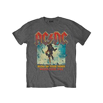 AC/DC Kids T Shirt Blow Up Your Video new Official Charcoal Grey (Ages 3-14 yrs)