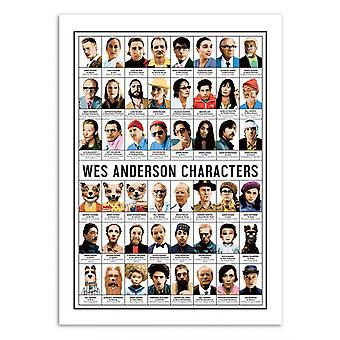 Art-Poster - Wes Anderson Characters - Olivier Bourdereau