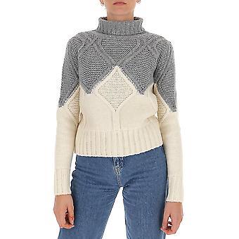 Fabiana Filippi Mad220b697f036vr1 Women's White/grey Wool Sweater