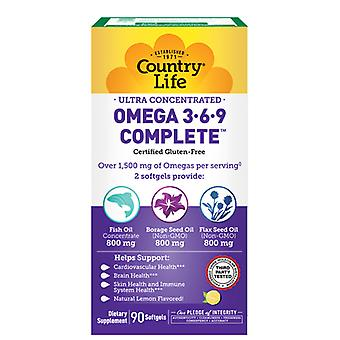 Country Life Ultra Omega 3-6-9, 90 Softgel