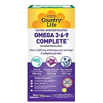 البلد الحياة الترا أوميغا 3-6-9، 90 Softgel