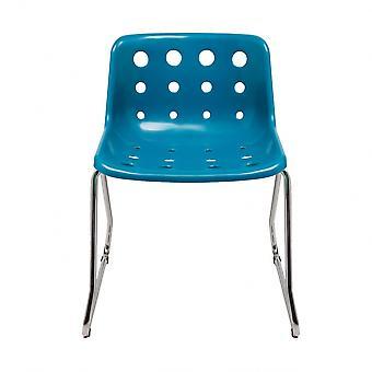 Loft Robin Day Sled Teal Plastic Polo Chair