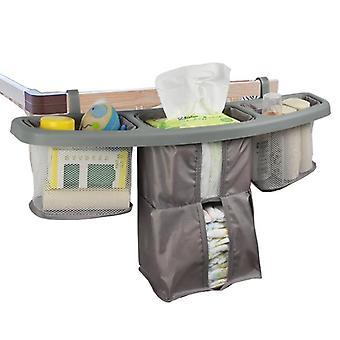 Baby Bed, Crib Hanging Storage Bag, Bedside Diaper Organizer