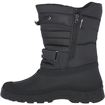 Trespass Dodo Water Resistant Outdoor Fleece Lined Winter Snow Boots - Black