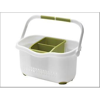 Addis Sink Caddy White/ Grassy Green 513830