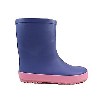 Clarks Puddle Play Infant Purple Combi Unisex Slip On Wellington Boots