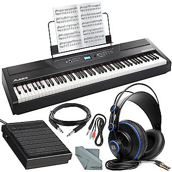 Alesis recital pro 88-key digital piano w/ hammer-action keys platinum bundle wi