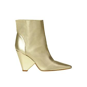 Dondup Ezgl030289 Women's Gold Leather Ankle Boots