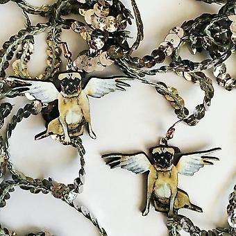 Ainutlaatuiset enkeli pug korvakorut