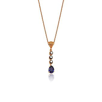 Saphir-Diamant-Halskette