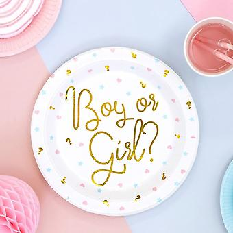 Baby Shower Party Plates | Boy Girl Gender Reveal Unisex Party x6