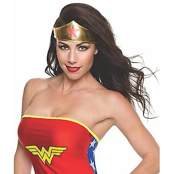 Rubie's official adult's wonder woman tiara - multi-coloured one size red