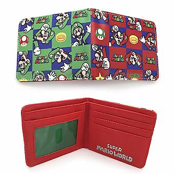 PU leather Coin Purse Cartoon anime wallet - Super Mario Bros #205