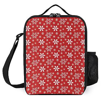 Red And White Xmas Wrapping Paper Printed Lunch Bags