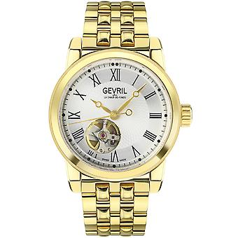 Gevril Men's Madison SS Silver Dial IPG Band