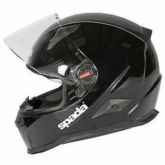 Spada RP900 Motorsykkel hjelm glans svart hele ansiktet beskyttende hjelm lokk