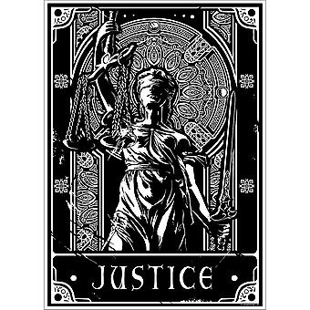 Deadly Tarot Justice Poster