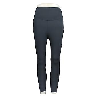 Mind Body Love Women's Petite Pants Ruched Waist Leggings Gray A380144