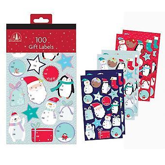 Festive Wonderland Christmas Gift Labels (Pack of 100)