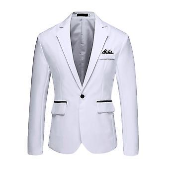 Men's stilvolle Casual Solid Blazer Business Hochzeit Party Mantel Anzug