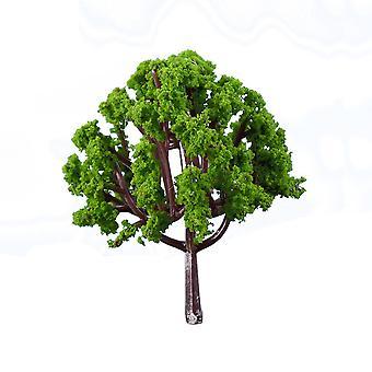 10Pcs Simulation Tree Decoration Simulation Tree Miniature Tree Material Decoration Landscaping Ornaments Ornamental