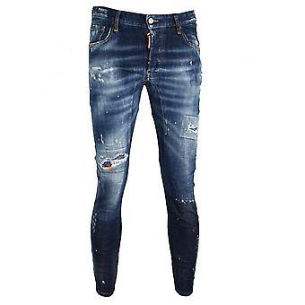Dsquared2 Tidy Biker Jean Distressed Paint Splash Jeans