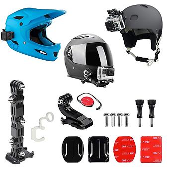 Micros2u gopro helmet mount front + side kit, includes j-hook buckle, quick release clip, 3m adhesiv
