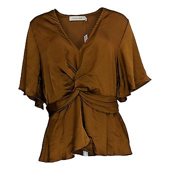 Bishop + Young Women's Top Pebbled Satin Front Twist Karlie Brown A383208