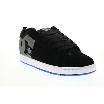 DC Court Graffik  Mens Black Nubuck Skate Inspired Sneakers Shoes
