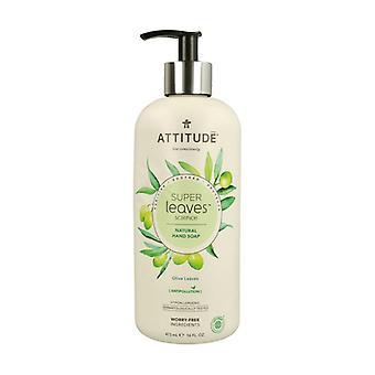 Super Leaves Hand Soap - olive leaves 473 ml (Olive)