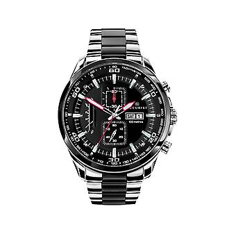 Accurist 7006 Stainless Steel Black And Silver Chronograph Mens Watch