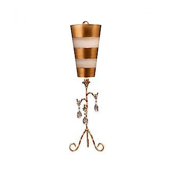 Lámpara De Mesa Tivoli Dorado Y Crema
