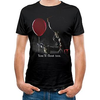 It Unisex Adults Pennywise Red Balloon Print T-Shirt