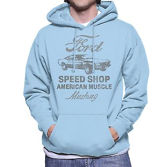 Ford Mustang Speed Shop American Muscle Men's sudadera con capucha