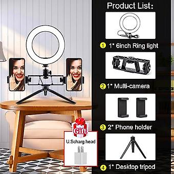 Led Ring Light With Tripods Stand, Photography Dimming Vidéo, Live Selfie,