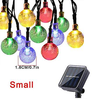 Солнечный хрустальный шар Струнные сказочные огни, Рождественская гирлянда, Открытый, Водонепроницаемый