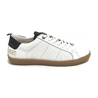 الرجال أحذية أحذية رياضية طموحة 10398a الجلود / جلد الغزال الأبيض / البحرية الزرقاء US21am02