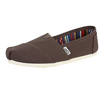 Toms miehet&s tuhka klassinen kangas kengät