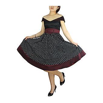 Tyylikäs tähti merimies tyylinen mekko musta / Burgundy
