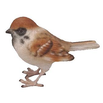 garden bird 11.1 x 8.9 cm polyresin brown