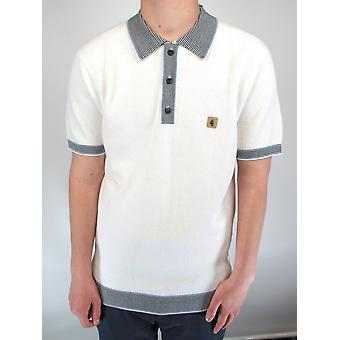 Dicaprio White Textured Knitted Polo Shirt