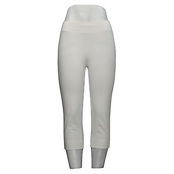 النساء مع المرأة السيطرة & s السراويل (XXS) كفاف الخصر كابري الأبيض A259679