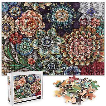 1000pcs Mandala Flower Jigsaw DIY Puzzle Jouets Assemblage Décoration d'image