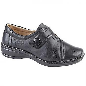 Boulevard Ethel Ladies Extra Wide Fit Loafers Black