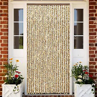 vidaXL Hyönteiskarkote Verho Beige ja Ruskea 90x220 cm Chenille
